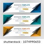 abstract web banner design... | Shutterstock .eps vector #1074990653