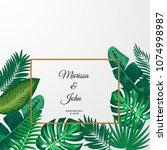 illustration of trendy summer... | Shutterstock . vector #1074998987