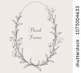 black hand drawn floristic... | Shutterstock .eps vector #1075004633