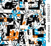 seamless background pattern ... | Shutterstock .eps vector #1075012517
