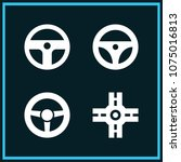 set of 4 driving filled icons... | Shutterstock .eps vector #1075016813