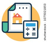 property agreement with... | Shutterstock .eps vector #1075021853