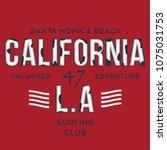california typography for t... | Shutterstock .eps vector #1075031753