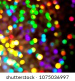 bokeh lights for party  holiday ... | Shutterstock . vector #1075036997