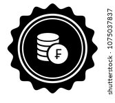 vintage emblem medal with swiss ... | Shutterstock .eps vector #1075037837