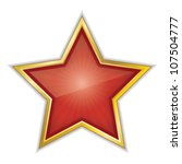 red star vector illustration | Shutterstock .eps vector #107504777