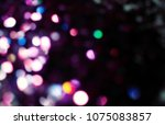 bokeh lights for party  holiday ... | Shutterstock . vector #1075083857