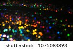 bokeh lights for party  holiday ... | Shutterstock . vector #1075083893