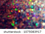 bokeh lights for party  holiday ... | Shutterstock . vector #1075083917