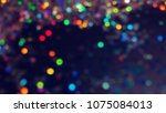 bokeh lights for party  holiday ... | Shutterstock . vector #1075084013