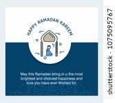 ramadan kareem vector... | Shutterstock .eps vector #1075095767