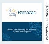 ramadan kareem vector... | Shutterstock .eps vector #1075099763