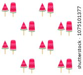 sweet watermelon slice ice... | Shutterstock .eps vector #1075101377