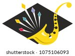 sharp saxophone stylized music...   Shutterstock .eps vector #1075106093