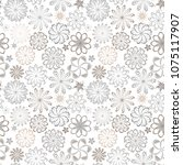 ornate floral seamless texture  ... | Shutterstock .eps vector #1075117907