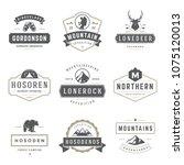 camping logos templates vector... | Shutterstock .eps vector #1075120013