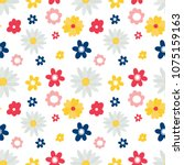 cute seamless pattern with... | Shutterstock .eps vector #1075159163