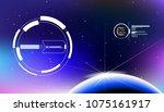 hud futuristic elements user... | Shutterstock .eps vector #1075161917