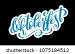 oktoberfest celebration... | Shutterstock .eps vector #1075184513