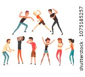 people fighting and quarreling. ...   Shutterstock .eps vector #1075185257