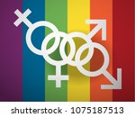 day against homophobia greeting ... | Shutterstock .eps vector #1075187513