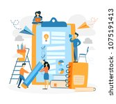 checklist concept illustration. ... | Shutterstock .eps vector #1075191413