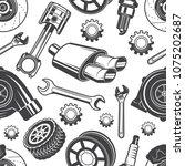 monochrome seamless pattern...   Shutterstock .eps vector #1075202687