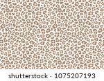 pale leopard fur spotted... | Shutterstock .eps vector #1075207193