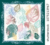 autumn square arrangement from...   Shutterstock . vector #1075213967