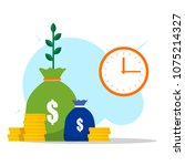 concept of income increase ... | Shutterstock .eps vector #1075214327
