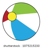 summer beach ball | Shutterstock . vector #1075215233
