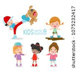 bad kids behavior  bad boy  bad ... | Shutterstock .eps vector #1075232417