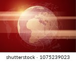 live news gray background with... | Shutterstock .eps vector #1075239023