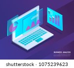 business analysis system ... | Shutterstock .eps vector #1075239623