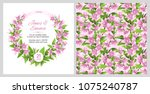 cover of wedding invitation and ... | Shutterstock .eps vector #1075240787