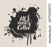 vector banner on coffee theme... | Shutterstock .eps vector #1075249373