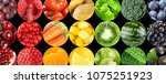 background of fruits and... | Shutterstock . vector #1075251923