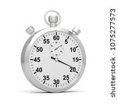 stopwatch time 3d illustration  | Shutterstock . vector #1075277573