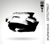 black brush stroke and texture. ... | Shutterstock .eps vector #1075279817