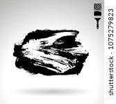 black brush stroke and texture. ... | Shutterstock .eps vector #1075279823