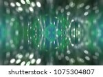 abstract background green bokeh ... | Shutterstock . vector #1075304807