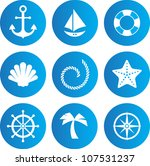 set of nautical icons   Shutterstock .eps vector #107531237