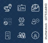 premium set with outline icons. ... | Shutterstock .eps vector #1075316843