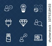 premium set with outline icons. ... | Shutterstock .eps vector #1075318433