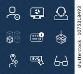 premium set with outline icons. ... | Shutterstock .eps vector #1075318493