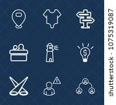 premium set with outline icons. ...   Shutterstock .eps vector #1075319087