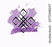 geometrical emblem traditional... | Shutterstock .eps vector #1075348247