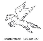 pegasus horse with wings | Shutterstock .eps vector #107535227