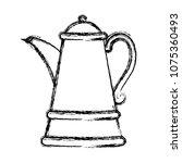 grunge herbal aromatic teapot... | Shutterstock .eps vector #1075360493