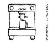 grunge coffee maker machine... | Shutterstock .eps vector #1075361237